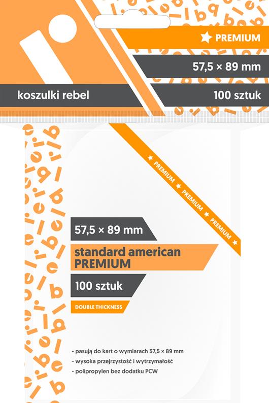 Koszulki na Karty Rebel (57,5x89 mm). Standard American Premium. 100 Sztuk