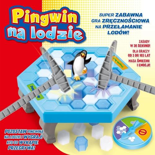 Pingwin na Lodzie. Gra Zręcznościowa