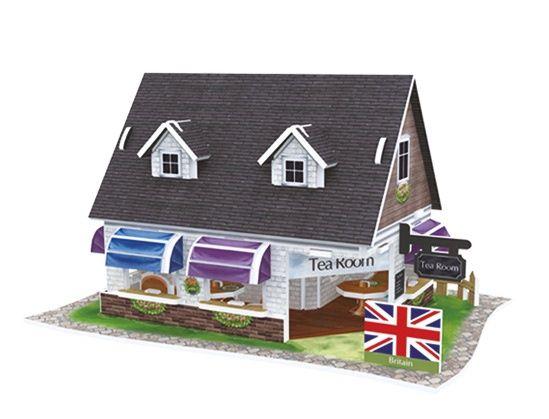 Puzzle 3D Domki świata Wielka Brytania Tea House