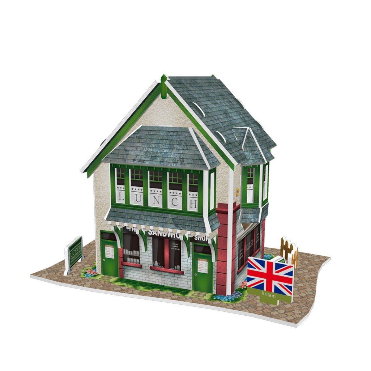 Puzzle 3D Domki świata Wielka Brytania Sandwich Shop