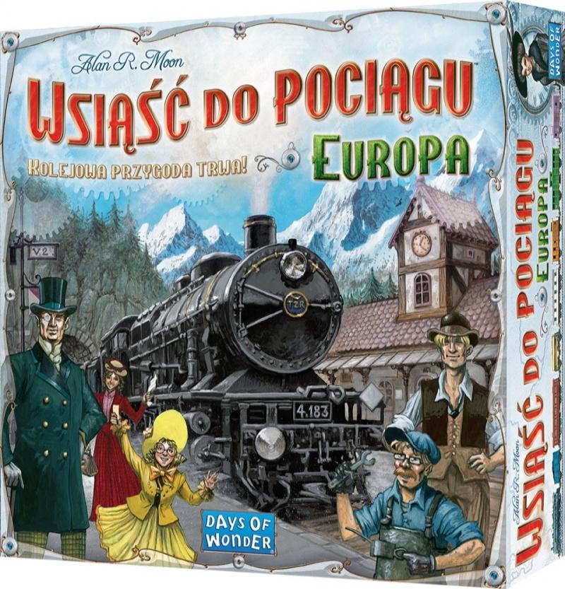 Wsiąść do Pociągu: Europa. Gra Planszowa