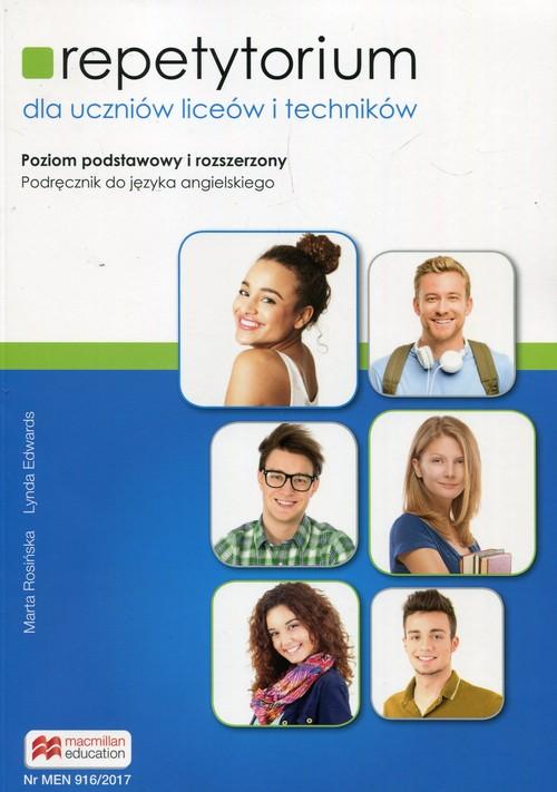 Repetytorium dla uczniów liceów i techników. Język angielski. Poziom podstawowy i rozszerzony + pdf