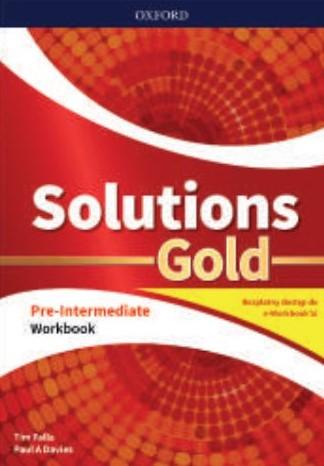 Solutions Gold. Pre-Intermediate. Workbook + kod online. Wyd.2020
