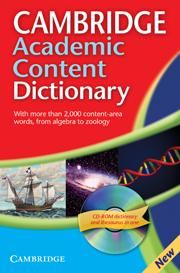 Cambridge Academic Content Dictionary + CD-ROM