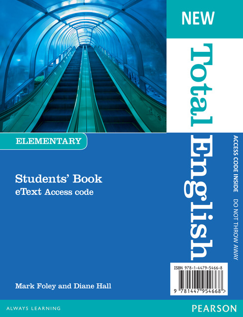 New Total English Elementary. eText Students' Book Access Card