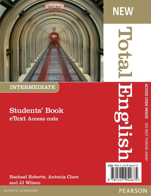 New Total English Intermediate. eText Students' Book Access Card