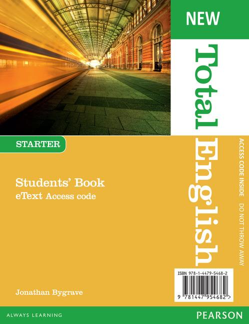 New Total English Starter. eText Students' Book Access Card