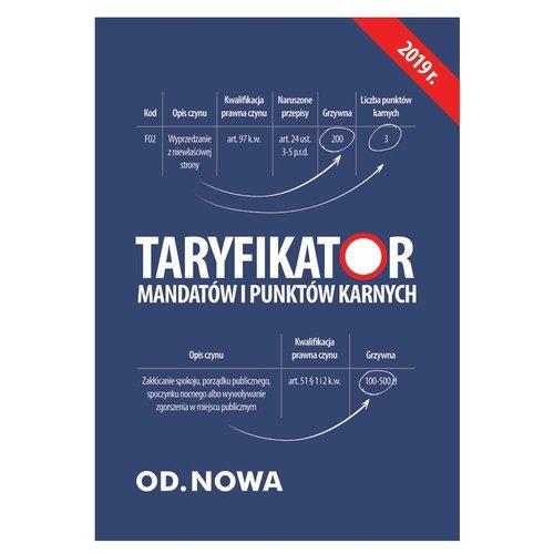 Taryfikator mandatów i punktów karnych wyd.sierpień 2019