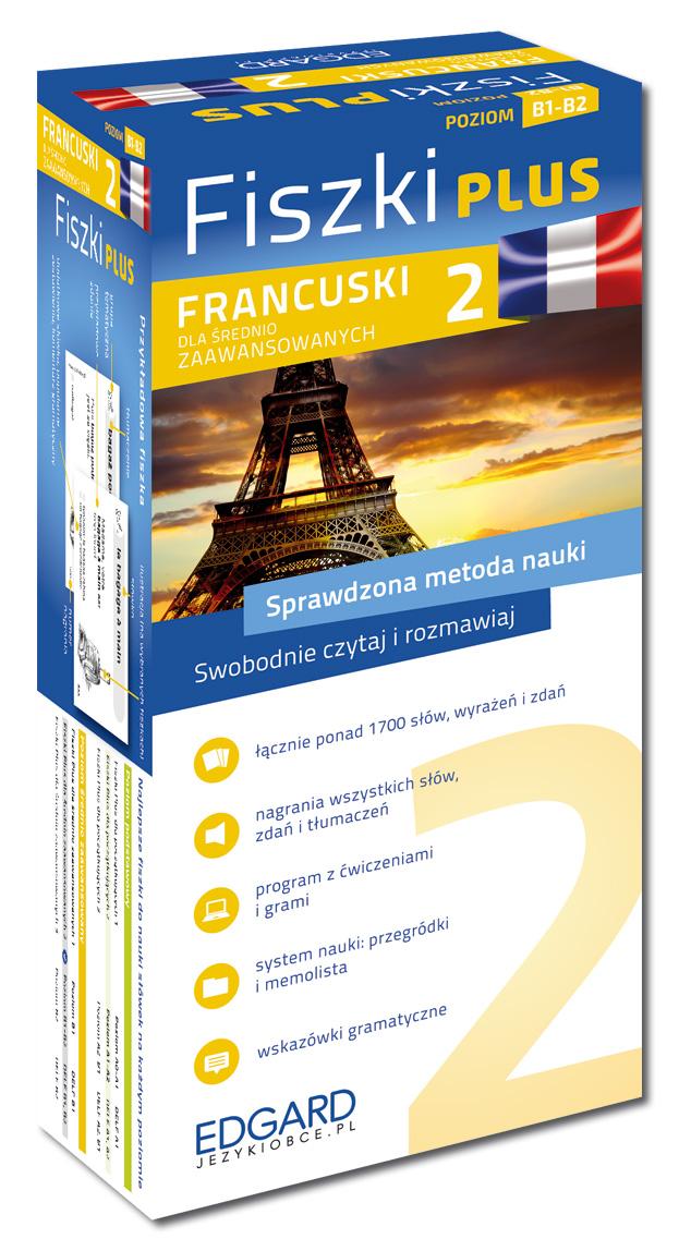 Fiszki PLUS. Język Francuski Dla Średnio Zaawansowanych 2