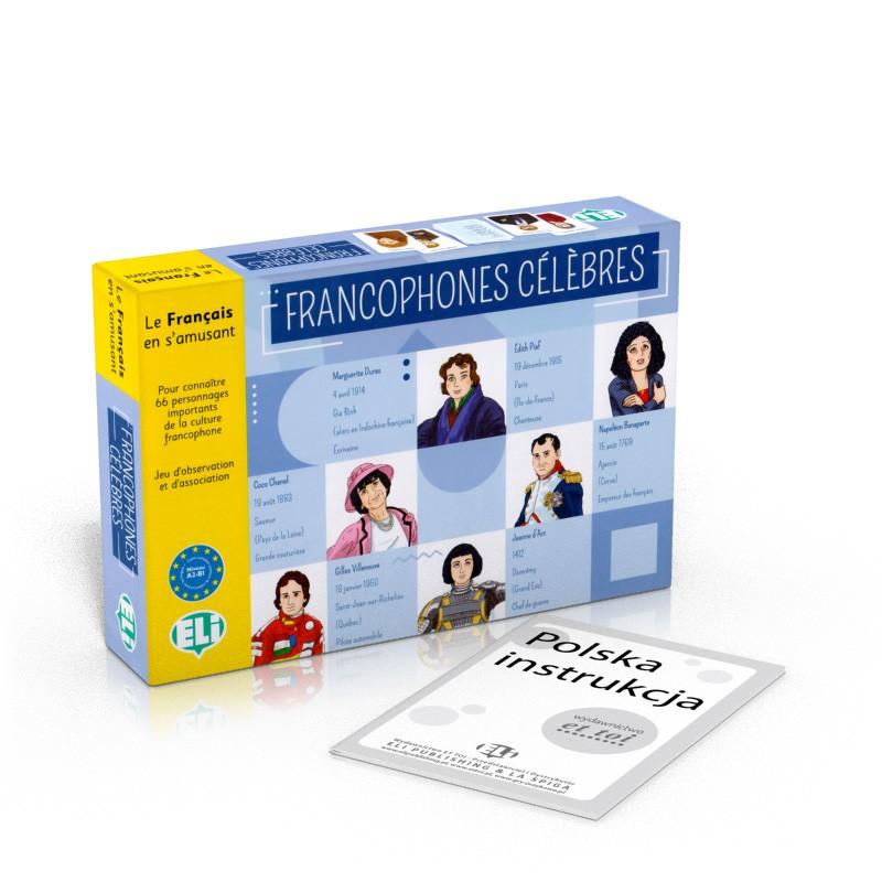 Gra językowa Francuski Francophones celebres